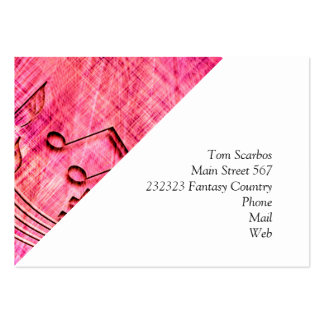 more music pink business card templates