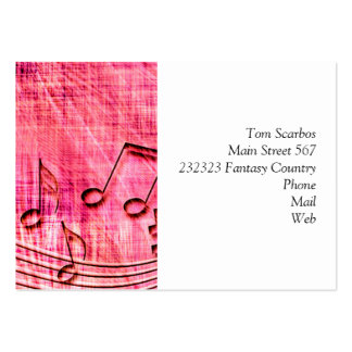 more music pink business card