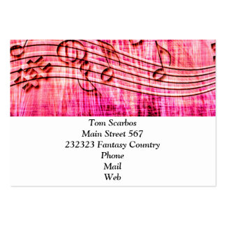 more music pink business card template