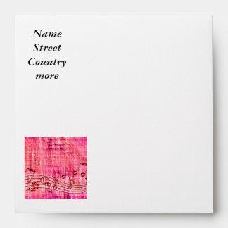 more music pink envelope