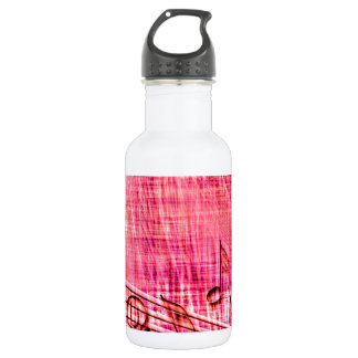 More Music pink 18oz Water Bottle