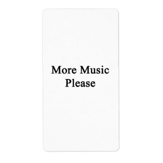 More Music Please Shipping Labels