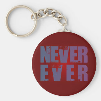 more never more ever basic round button keychain