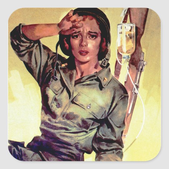 More Nurses Are Needed ~ Nurse Corps Square Sticker