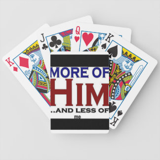More of Him Bicycle Playing Cards