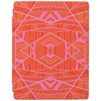 More Orange Than Pink Geo Pattern by KCS iPad Cover