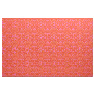 More Orange Than Pink Geo Pattern Small Scale KCS Fabric