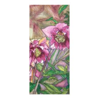 More pink hellebores rack card template
