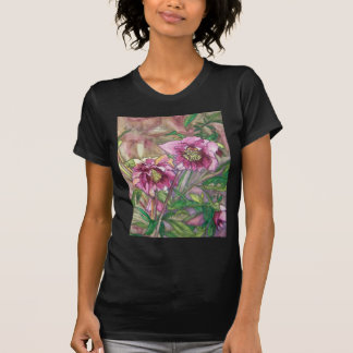 More pink hellebores t-shirts