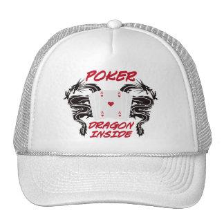 more poker dragon trucker hat