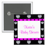 More Precious Than Diamonds Girly Baby Shower 2 Inch Square Button