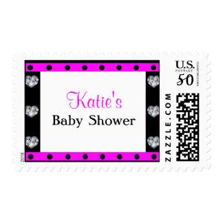 More Precious Than Diamonds Girly Baby Shower Postage