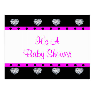 More Precious Than Diamonds Girly Baby Shower Postcard