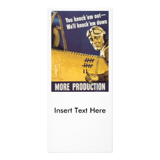 More Production World War 2 Rack Card