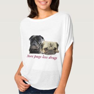 More pugs little drugs - 2 pugs T-Shirt