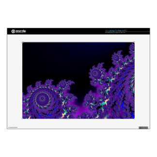 "More Purple Fractals Skins 15"" Laptop Decals"