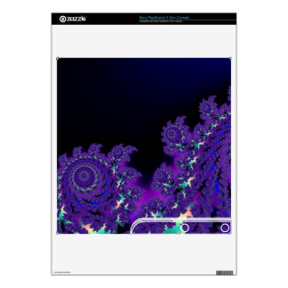 More Purple Fractals Skins Decals For The PS3 Slim