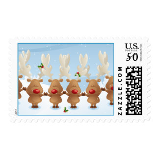 more Reindeer Christmas Holiday Postage