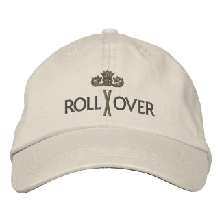 MORE ROLLOVER with Crown - 002 Embroidered Baseball Cap