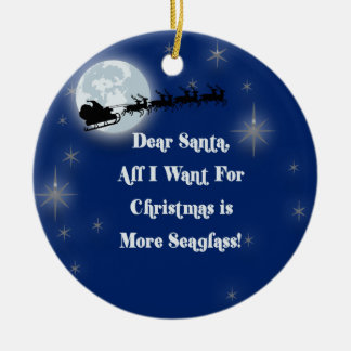 More Seaglass Double-Sided Ceramic Round Christmas Ornament