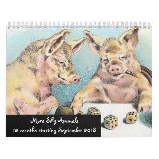 More SIlly Animals 12 Months Start Sept 2018 Calendar
