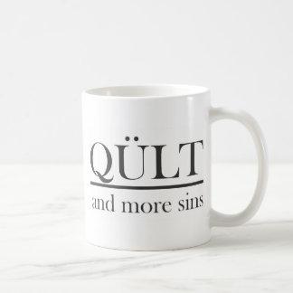 more sins classic white coffee mug