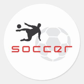 more soccer classic round sticker
