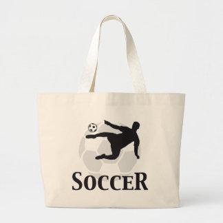 more soccer large tote bag