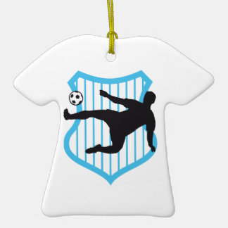 more soccer more player Double-Sided T-Shirt ceramic christmas ornament