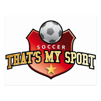 more soccer - that's my sport post cards