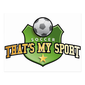 more soccer - that's my sport postcard