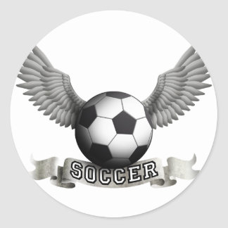 more soccer wings A Classic Round Sticker