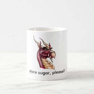 More sugar, please? classic white coffee mug
