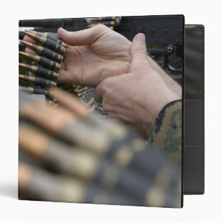 More than 3,000 rounds were fired from M-240G Vinyl Binders