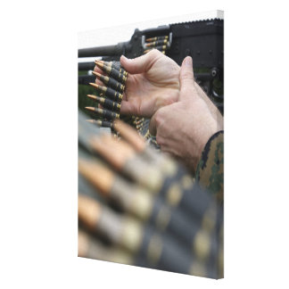 More than 3,000 rounds were fired from M-240G Canvas Print