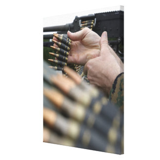 More than 3,000 rounds were fired from M-240G Stretched Canvas Prints