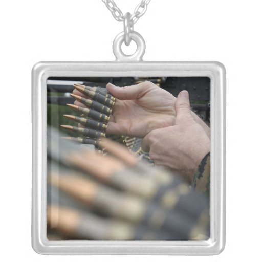 More than 3,000 rounds were fired from M-240G Square Pendant Necklace