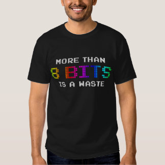 More Than 8 Bits is a Waste T-Shirt