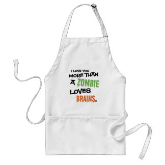 More Than A Zombie Loves Brains Apron