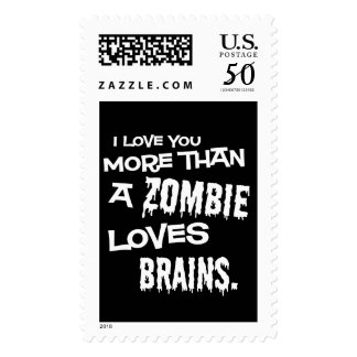More Than A Zombie Loves Brains Postage