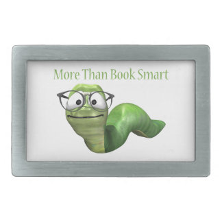 More Than Book Smart Book Worm Belt Buckle
