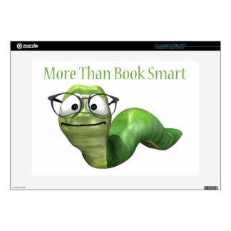 More Than Book Smart Book Worm Laptop Skins