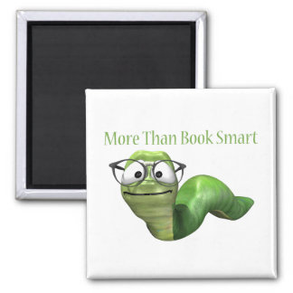 More Than Book Smart Book Worm Fridge Magnets