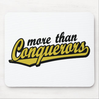 More than conquerors mouse pad