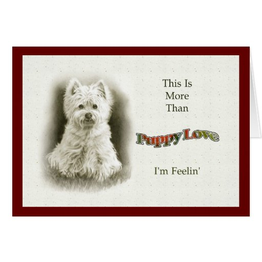 More Than Puppy Love, Terrier Pup, Pencil Art Greeting Card