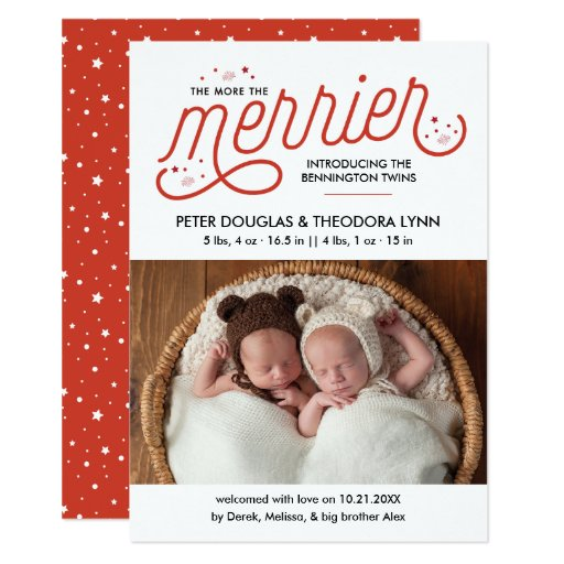 More the Merrier Christmas Twins Announcement