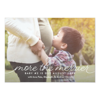 More the Merrier Pregnancy Announcement Card