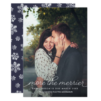 More The Merrier Pregnancy Christmas Card