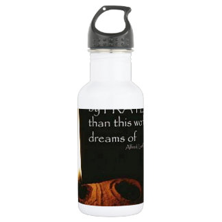 More Things Are Wrought By Prayer Stainless Steel Water Bottle
