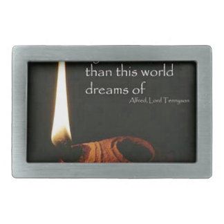 More Things Are Wrought With Prayer Rectangular Belt Buckle